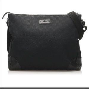 🖤Gucci Black GG Canvas Crossbody Bag - UNISEX🖤